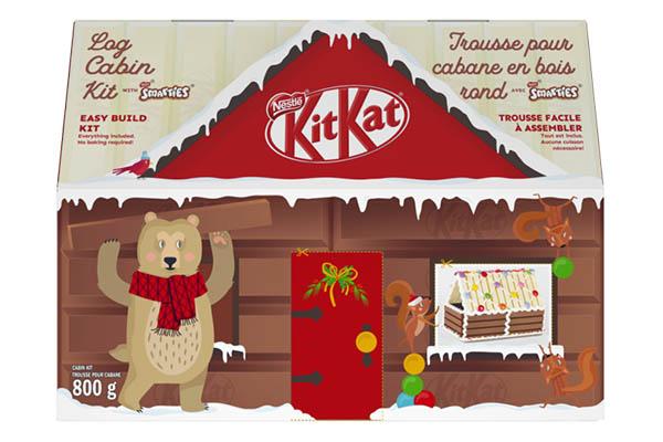 Free KITKAT Christmas Log Cabin Kit