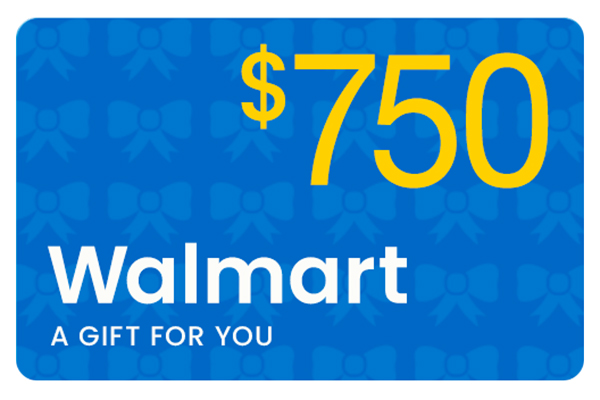 Free $750 Walmart Gift Card
